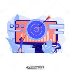 وکتور اینفوگرافیک موفقیت در اینترنت