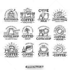 وکتور لوگو قهوه فروشی زیبا