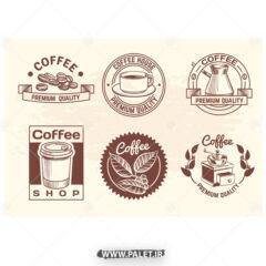 وکتور لوگو کافه و قهوه ساز