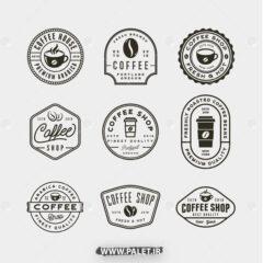وکتور لوگو کافه و نوشیدنی داغ