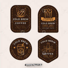 وکتور لیبل قهوه گلد