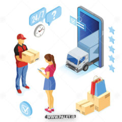 وکتور حمل کالا و تحویل به مشتری