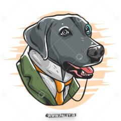 وکتور کارتونی سگ باکلاس