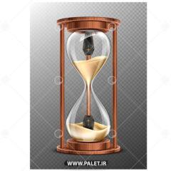 وکتور ساعت شنی گرافیکی طلایی
