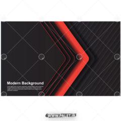 پس زمینه مدرن گرافیکی با فلش قرمز
