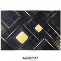 پس زمینه هندسی با طرح مربع طلایی