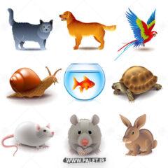 لوگو کارتونی حیوانات زیبا 005