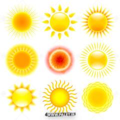 لوگو طرح خورشید های متنوع