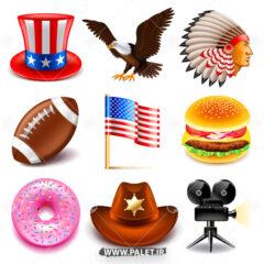 وکتور لوگو امریکا و نماد های این کشور