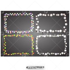 وکتور لامپ های تزئینی رنگی جدید