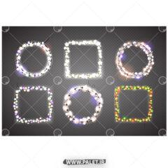 وکتور لامپ های رشته ای رنگی