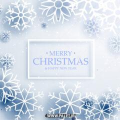وکتور پس زمینه یخی کریسمس میلادی