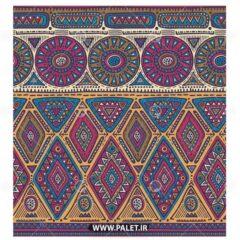 طرح پارچه قدیمی سنتی ترکمن رنگی