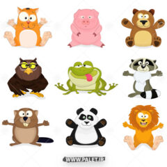 طرح کارتونی حیوانات جنگل