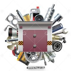 وکتور تعمیرگاه ماشین و موتور