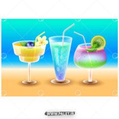 وکتور نوشیدنی های تابستونه خوش طعم