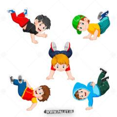 وکتور پسر بچه ورزشکار