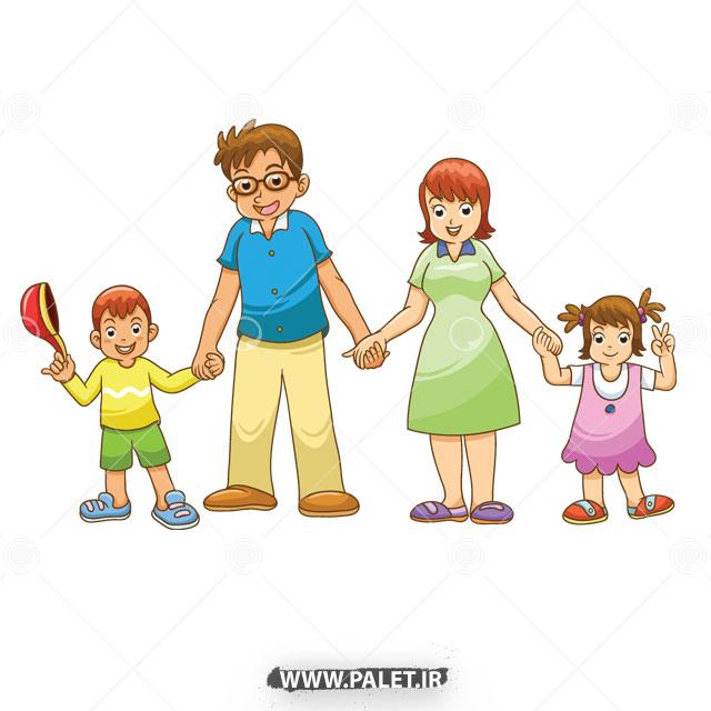 وکتور کاراکتر خانواده چهار نفره