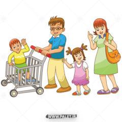 وکتور خانواده در حال خرید