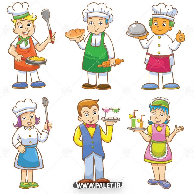 وکتور سرآشپز و گارسون
