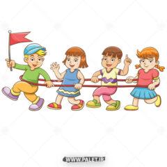 وکتور بازی کودکانه دختر و پسر ها