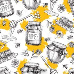 وکتور پترن برای عسل فروشی