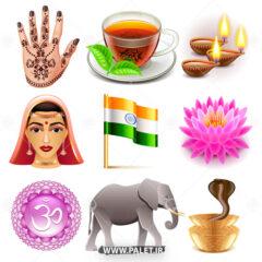 وکتور ایکون مقدسات هندوستان