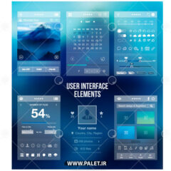 وکتور طرح رابط کاربری فرم موبایل