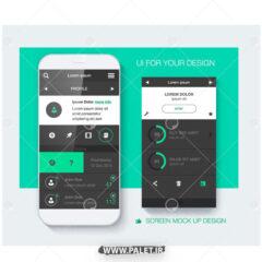 وکتور لایه باز UI موبایل