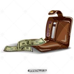 دانلود طرح لایه باز کیف دلار