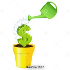 وکتور گلدان دلار زیبا