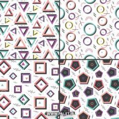 پترن هندسی برای کاغذ دیواری