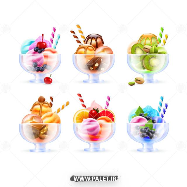 وکتور بستنی اسکوپی لاکچری