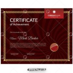 دانلود وکتور گواهینامه خارجی قرمز