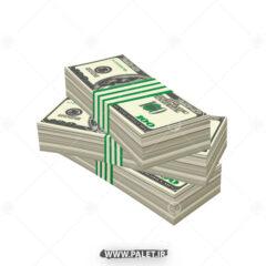 وکتور بسته های دلار آمریکا