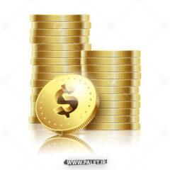 وکتور سکه های طلای خارجی