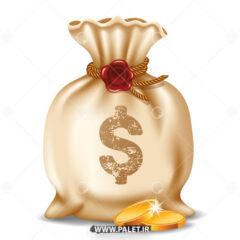 وکتور کیسه های سکه طلا