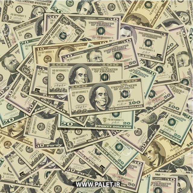 وکتور دلار های آمریکایی زیبا