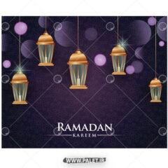 وکتور فانوس های شمعی ماه رمضان