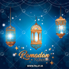 وکتور پس زمینه فانوس های لاکچری رمضان
