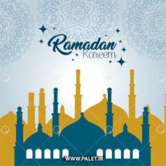 وکتور پس زمینه ماه رمضان بزرگ
