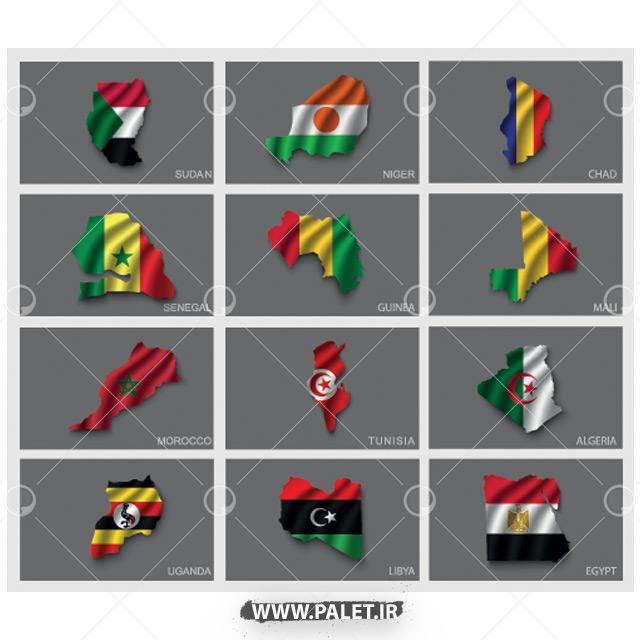وکتور پرچم کشور آفریقایی