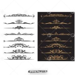 دانلود طرح حاشیه طلایی سنتی