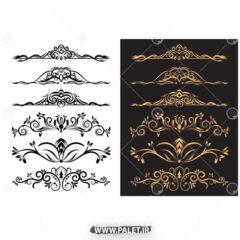 طرح های حاشیه طلایی فتوشاپ