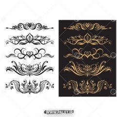 دانلود طرح های حاشیه طلایی فتوشاپ
