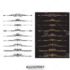 طرح لاکچری حاشیه طلایی فتوشاپ