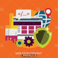 وکتور لایه باز طراحی وب سایت