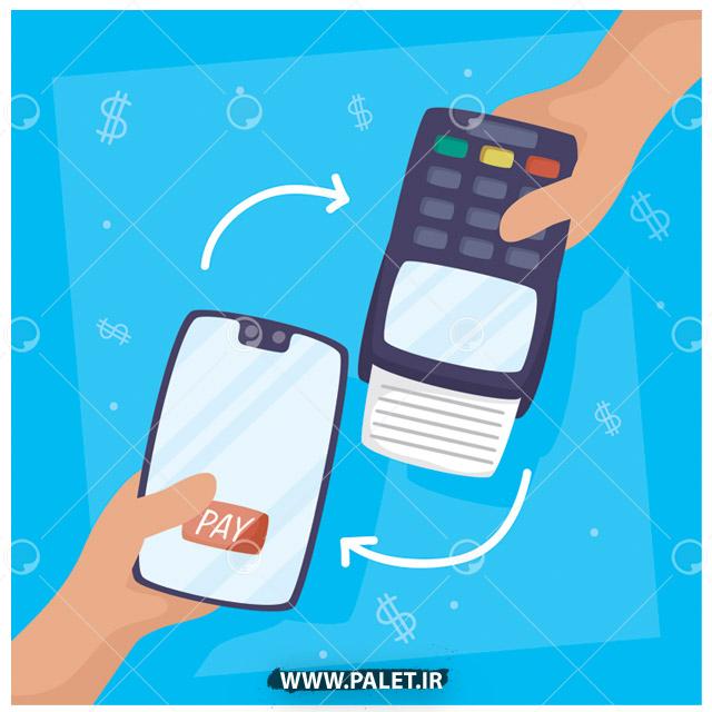 وکتور پرداخت آنی با موبایل