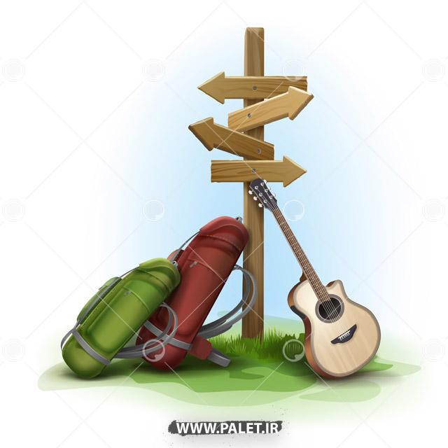 وکتور کوله مسافرتی و گیتار کلاسیک