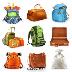 وکتور انواع کیف و کوله مسافرتی
